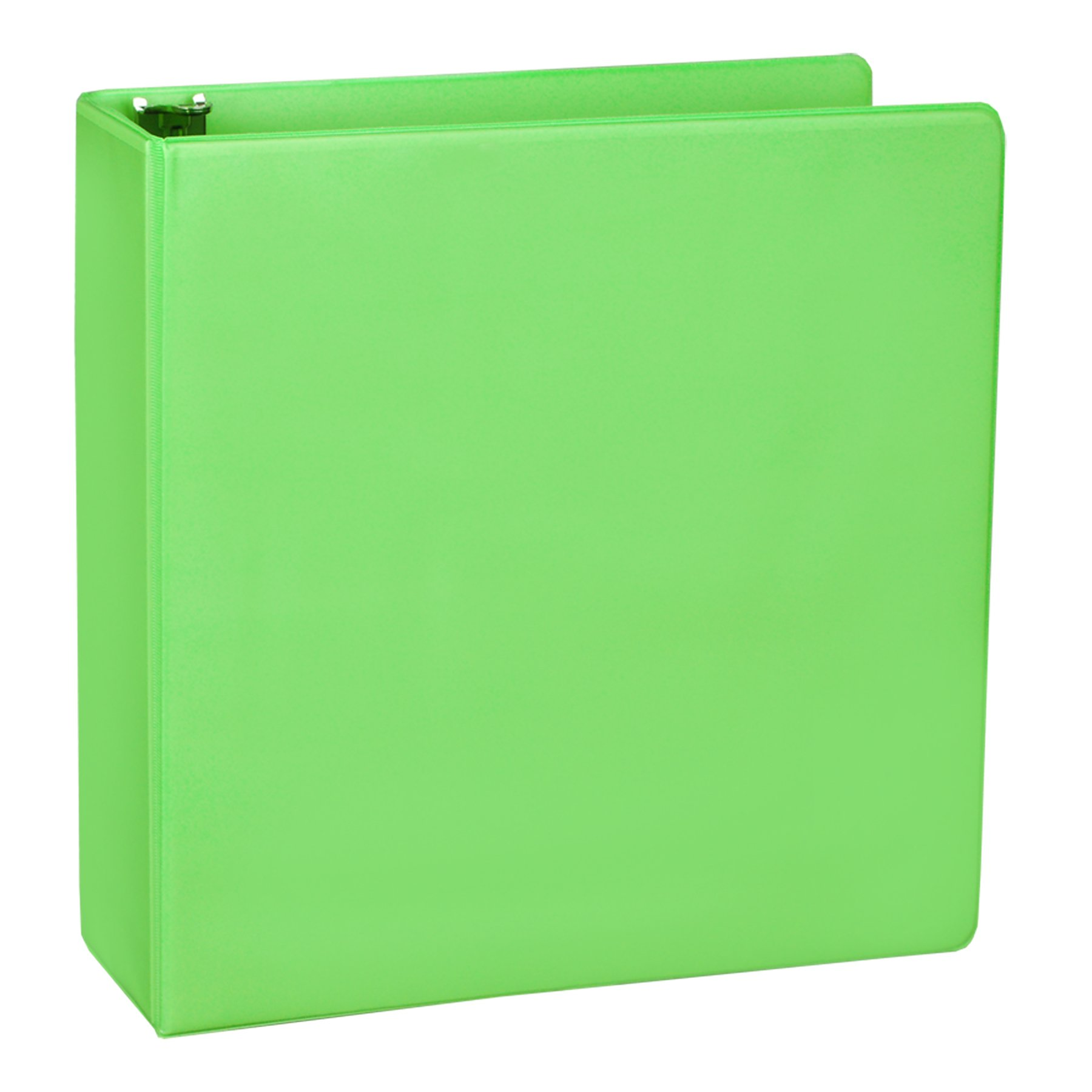 Samsill Fashion Color Durable 3 Ring View Binders, 2 Inch Round Ring, Customizable Clear View Cover, Lime Green, Two Pack