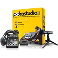Behringer PODCASTUDIO - Kit Completo de podcastudio USB con Interfaz USB/Audio
