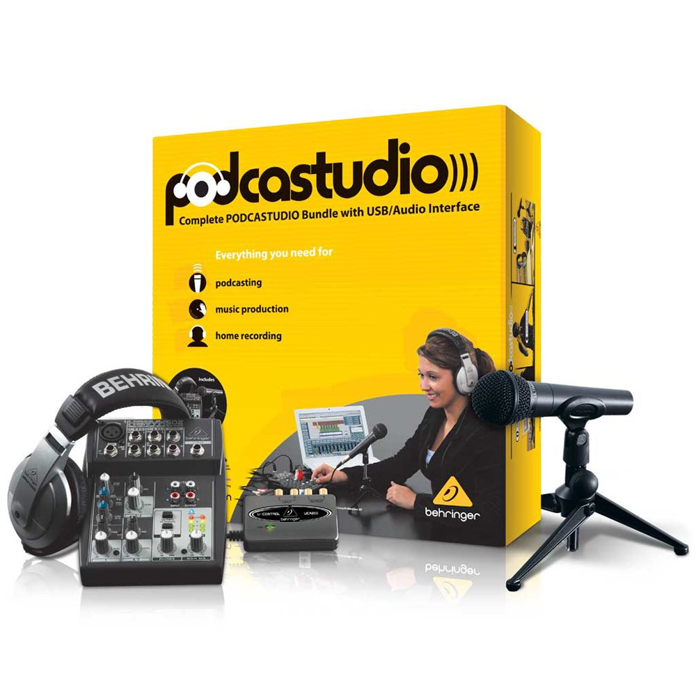 Behringer PODCASTUDIO USB Complete PODCASTUDIO Bundle with USB/Audio Interface PODCASTUDIOUSB