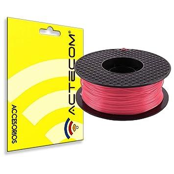ACTECOM® FILAMENTO PLA Impresora 3D Impresion Bobina 1,75 1KG Rojo ...