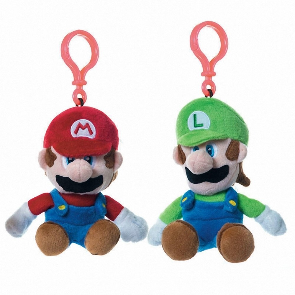 Pack 2 Llaveros Clip On Peluches Mario Luigi Super Mario ...