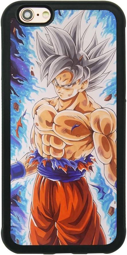 Dragon Ball Super Z Son Goku Ultra Instinct Japanese Anime Case for iPhone 6/6S (4.7 Inch) Comic TPU Silicone Rubber Gel Edge PC Bumper Case Skin ...