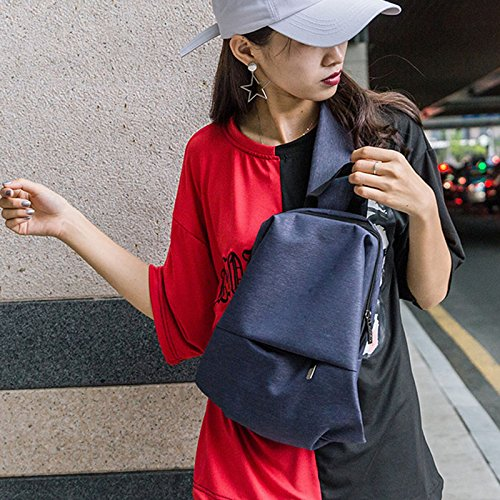Men Durable Pockets Casual Oxford Bag Handbag Chest Shoulder Fashion Majome Travel Crossbody Blue SfwqCWd
