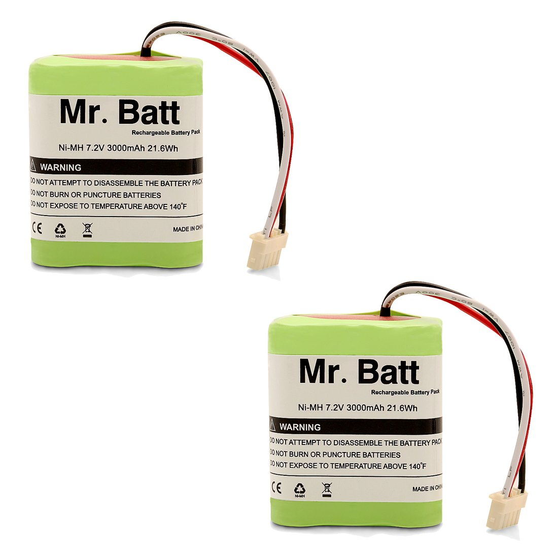 Mr.Batt Replacement Battery for iRobot Braava 380t Battery for Braava 380, Mint 5200, 7.2 Volt 3000mAh MB-IRO-BRV380T