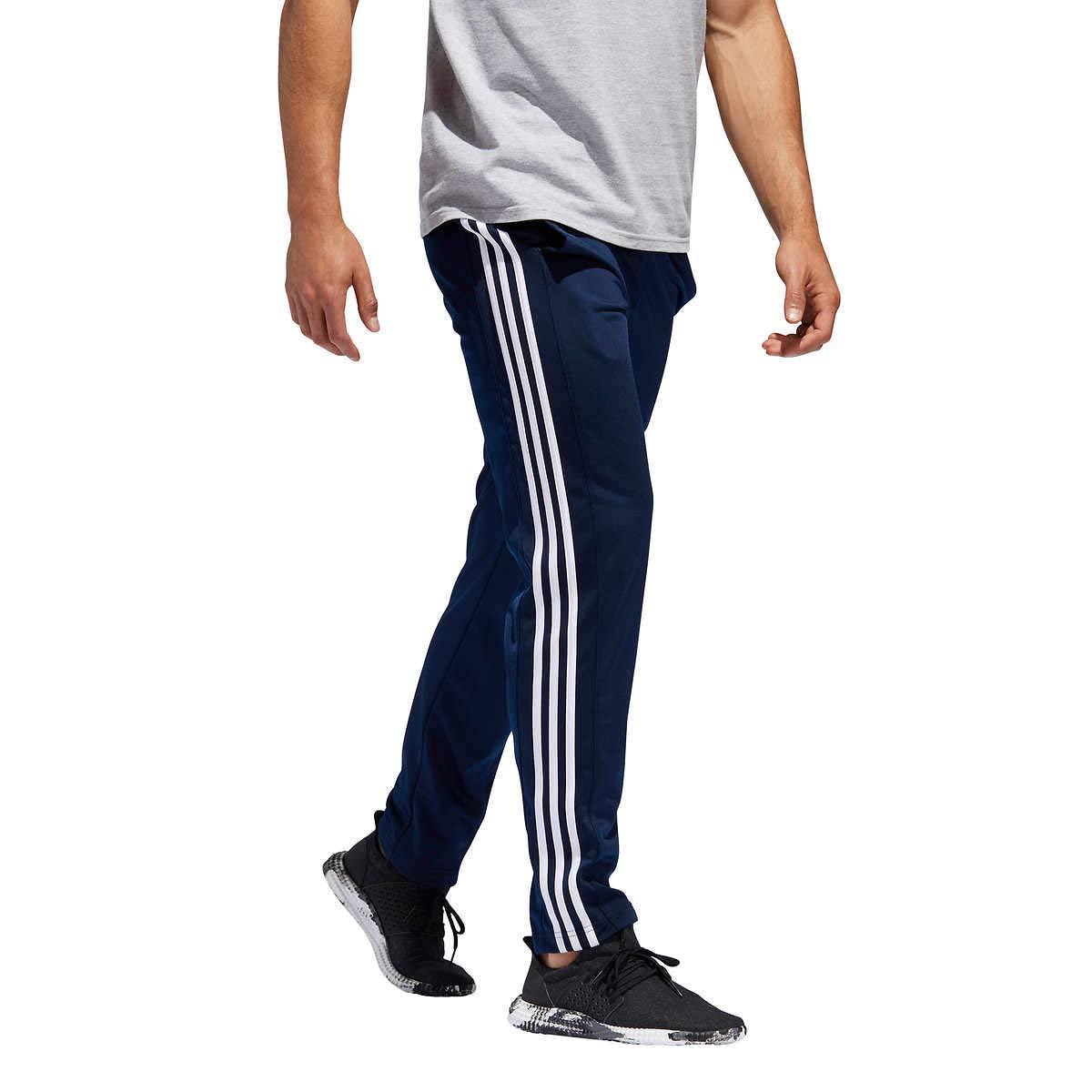 adidas Men's Essential Track Pants Gameday Pant (Navy/White, Medium)