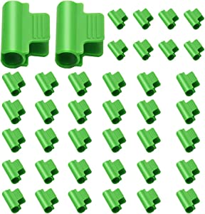 40pcs Plastic Greenhouse Clamps Clips, Film Row Cover Netting Tunnel Hoop Clip, Frame Shelters Shading Net Rod Clip Greenhouse Film Clamps for Season Plant Extension Support 0.43inch