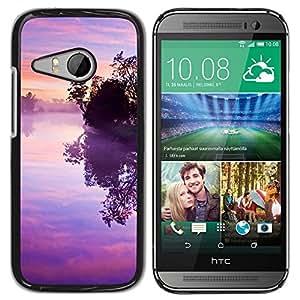 For HTC ONE MINI 2 / M8 MINI , S-type Violet Susnet - Arte & diseño plástico duro Fundas Cover Cubre Hard Case Cover