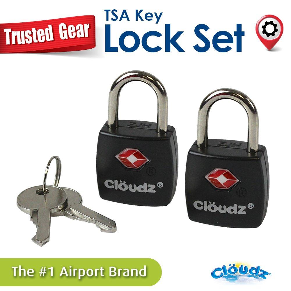 Amazon.com: Cloudz TSA Key Lock Set - Black: Home & Kitchen