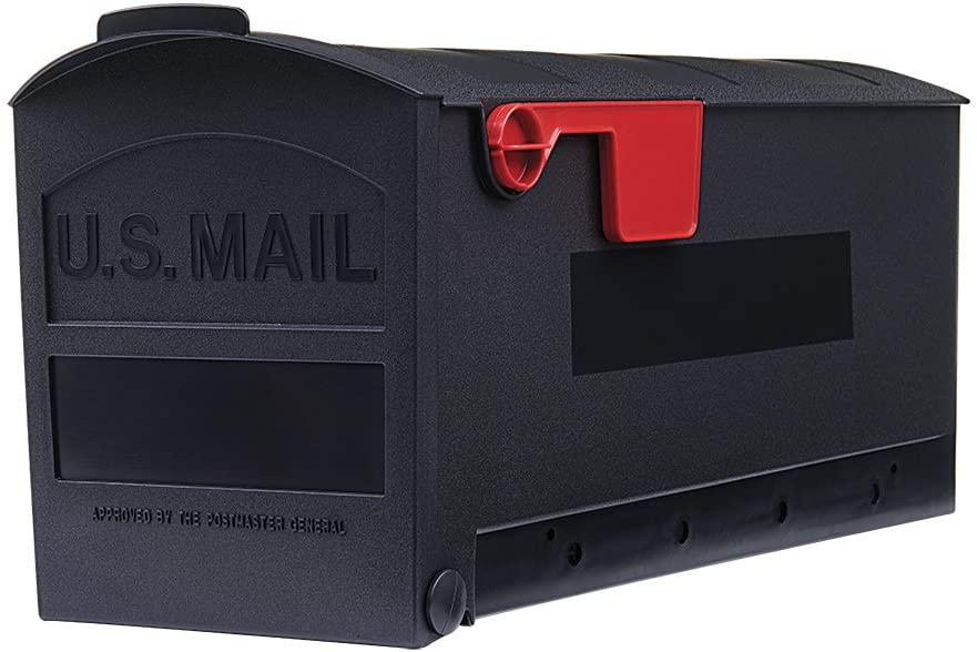 Gibraltar Mailboxes Patriot Medium Capacity Rust-Proof Plastic Black, Post-Mount Mailbox, GMB505B01
