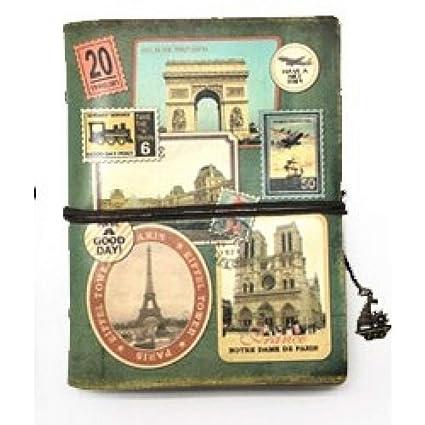 VQEWZ Cuaderno Papelería Vintage Pu De Cuero Cuaderno ...