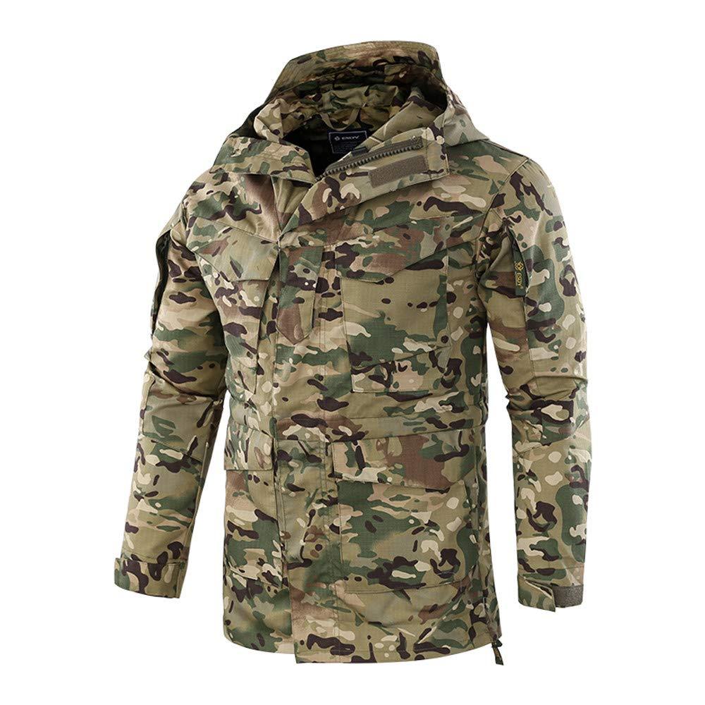 YKARITIANNA Mens Winter Jackets /& Coats Down /& Down Alternative Work Wear Windproof Warm Outdoor Coat Hooded Sports Overalls