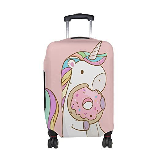 022e8a1a06c6 Amazon.com | Cooper girl Unicorn Donuts Travel Luggage Cover ...