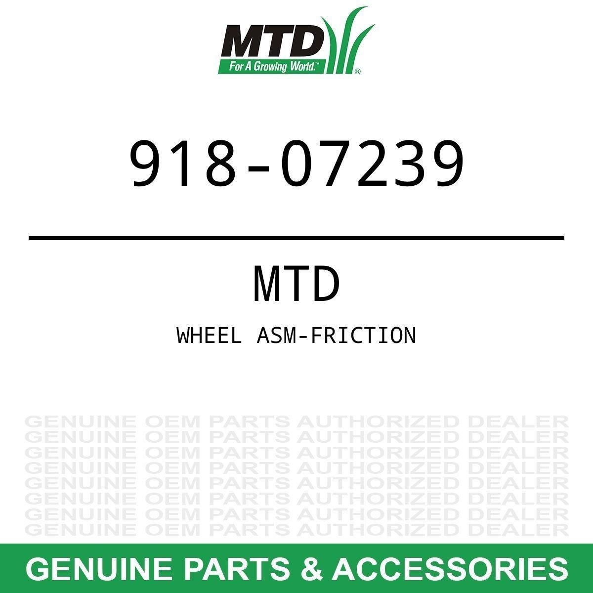 Genuine MTD WHEEL ASM-FRICTION Part#  918-07239