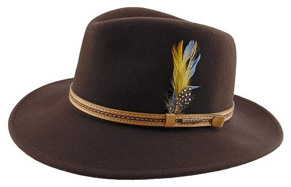Stetson - Sombrero de Vestir - para Hombre 61 - Dunkelbraun Large  Amazon.es   Ropa y accesorios f744d7195ff