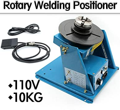 """Rotary Welding Positioner Turntable Table Mini 2.5/"""" 3 Jaw Lathe Chuck 10KG 110V"""