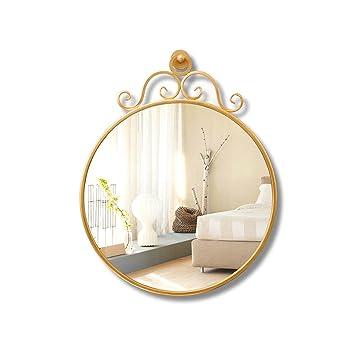 JJZI-L Espejo de Hierro del Arte, Montaje en la Pared Espejo ...