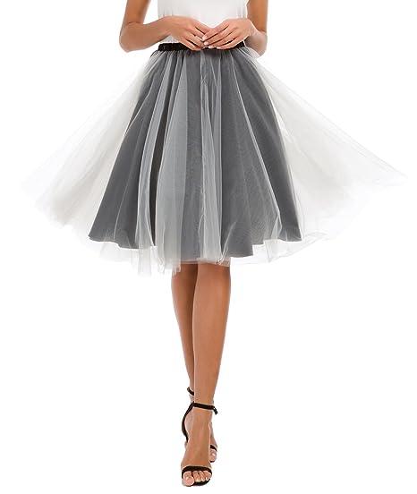 Urban GoCo Mujer A-lìnea Danza Ballet Princesa Tutú Falda (Medium ...