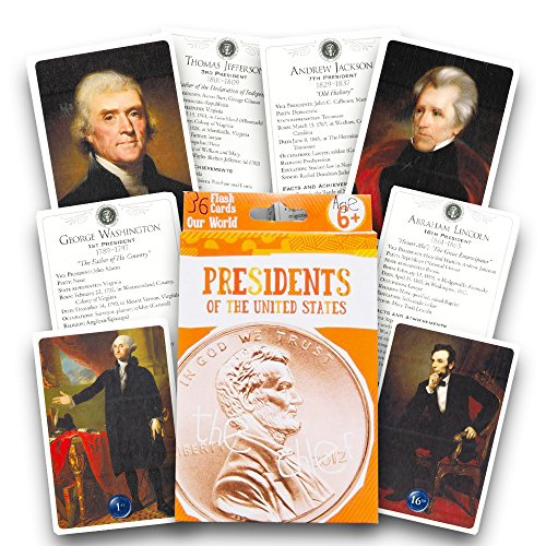 Presidents of the United States Flash Cards - 36 Count