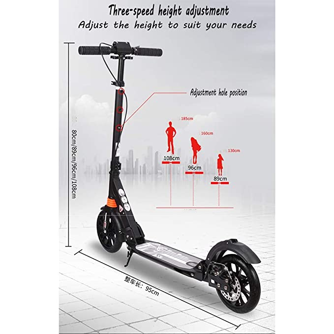 Amazon.com: LJHBC - Patinete de rueda, manillar ajustable ...