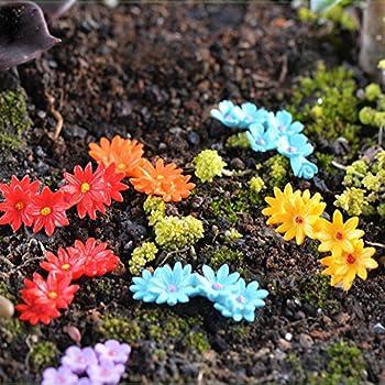 Kangnice 10Pcs Miniature Flower Moss Bonsai DIY Crafts Fairy Garden  Landscape Decor