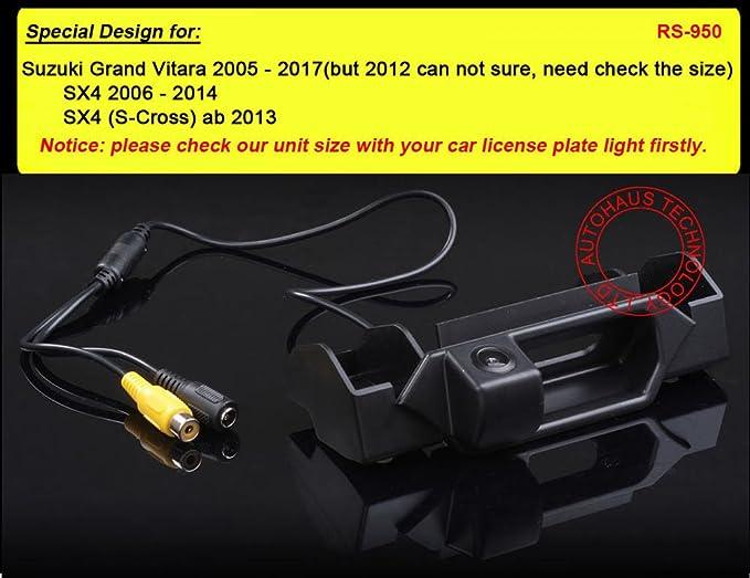 Navinio Rückfahrkamera Einparkhilfe Rückfahrcamera Fahrzeug Spezifische Kamera Integriert In Nummernschild Licht Für Fiat Sedici Suzuki Vitara