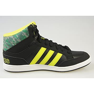 low priced 8599f a5e85 Adidas - Hoops Mid K - CG5735 - Color  Negro-Verde-Amarillo - Size  39.3   Amazon.es  Zapatos y complementos
