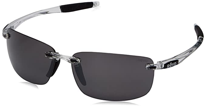 1ff53c6b03a Revo Unisex RE 4059 Descend N Rectangular Polarized UV Protection  Sunglasses