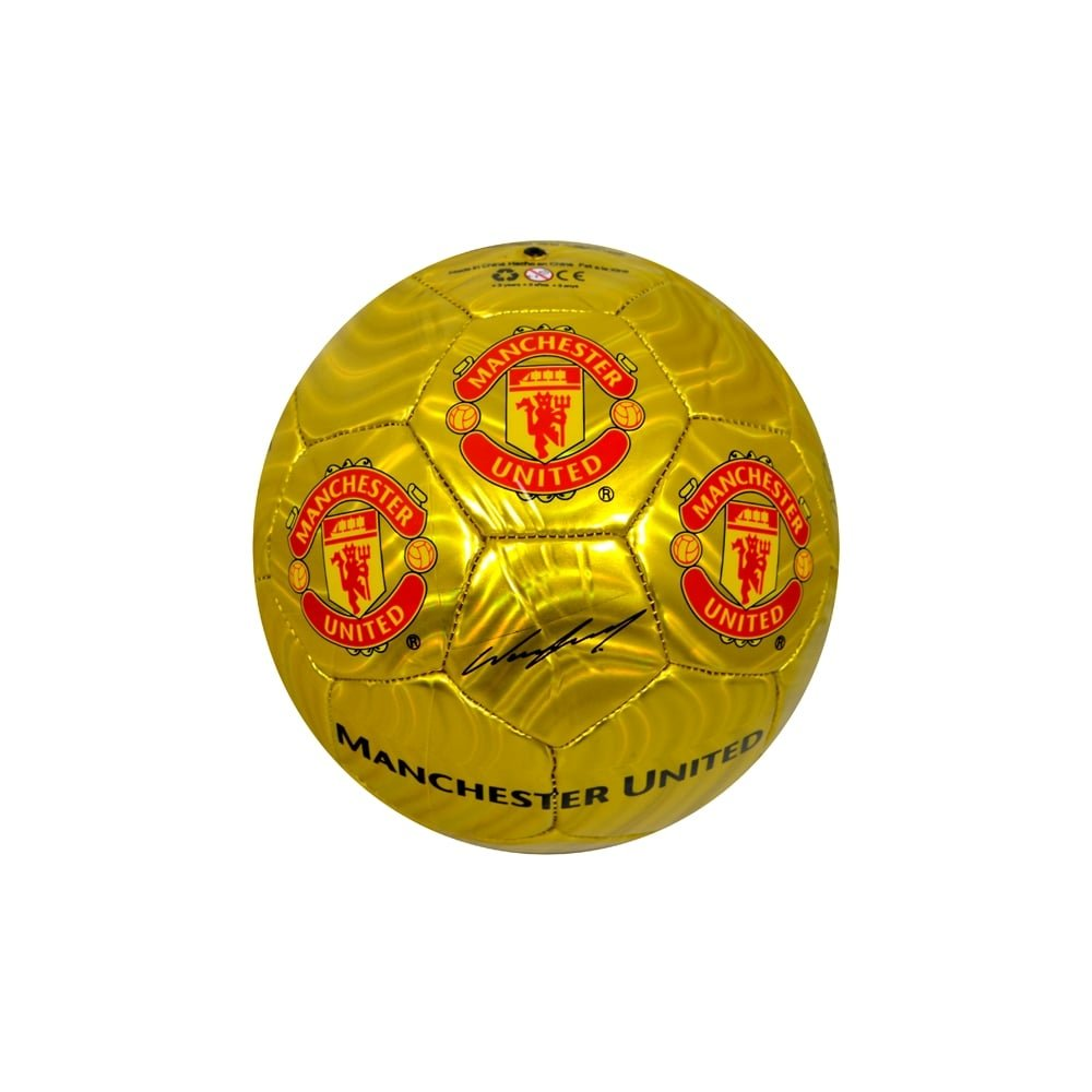 Manchester United FC Size 5 Signature Football Ball - Red