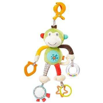Motorikspielzeug zum Aufh/ängen mit Spiegel /& Ringen zum Bei/ßen F/ür Babys und Kleinkinder ab 0 Fehn 064124 Activity-Spieltier Ameisenb/är Monaten Greifen und Ger/äusche erzeugen