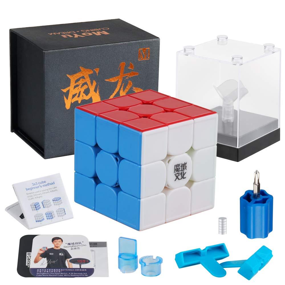 D-FantiX Moyu Weilong GTS3 M 3x3 Speed Cube Stickerless Moyu Weilong GTS V3 M 3x3x3 Magnetic Cube Puzzle GTS 3m by D-FantiX