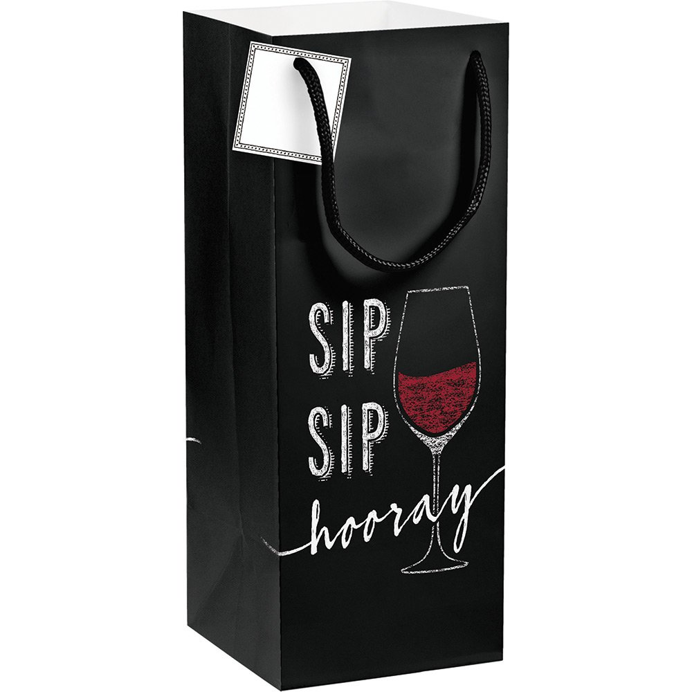 12-Count Wine Gift Bags with Tag Sip Sip Hooray