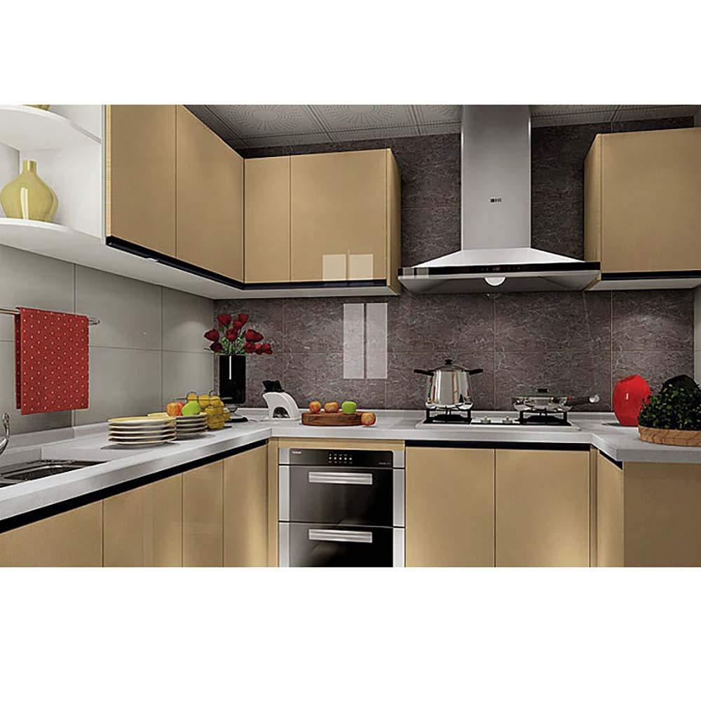 Noir TM Color/é Sticker Carrelage Autocollant 60 * 100cm Carrelage Adh/ésif Mural /Étanche pour Cuisine Salle de Bain