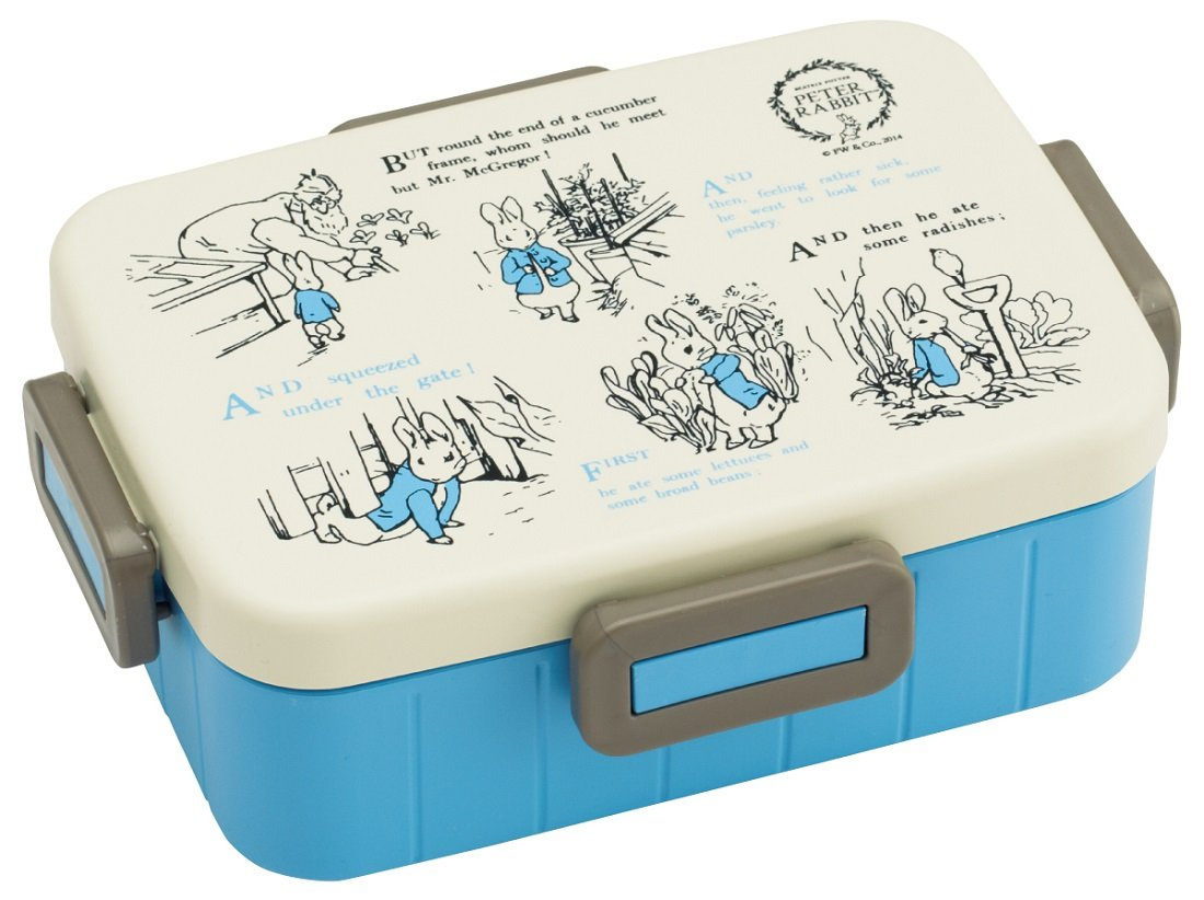 Skater 4-point lock lunch box 650ml Peter Rabbit