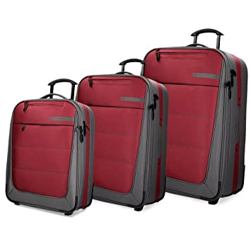 Detroit Set de bagages 75 cm 193 liters Rouge (Rojo) yQR6QT6kM8