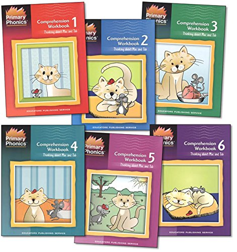 - Primary Phonics Comprehension Complete 6 Workbooks Set -- Thinking About Mac and Tab Book 1-6