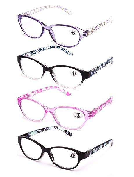 a0469886e3 Pack de 4 Gafas de Lectura Vista Cansada Presbicia, Graduadas Dioptrías  +1.00 hasta +4.00, ...