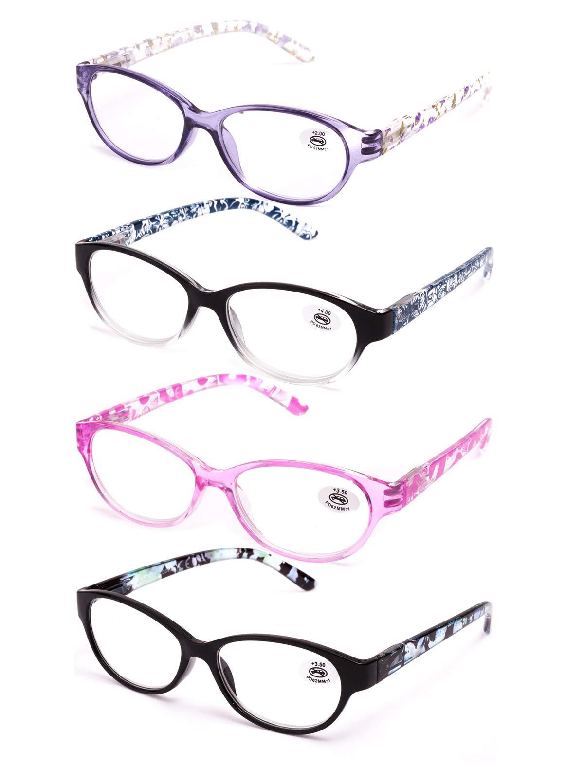 751fd18c00 Pack de 4 Gafas de Lectura Vista Cansada Presbicia, Graduadas Dioptrías  +1.00 hasta +