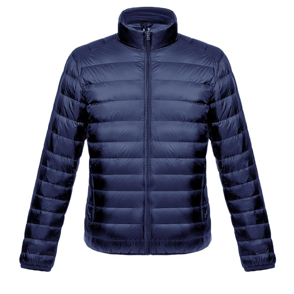 MUST WAY Men's Lightweight Water Resistant Outwear Coat Windbreaker Packable Short Down Jacket