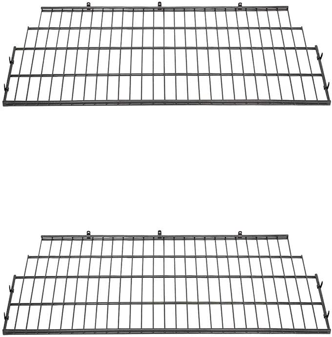 Suncast BMSA7S Vertical Storage Shed Organization Metal Wire Shelf Rack (2 Pack)