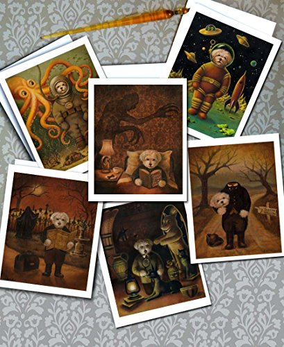 Dog Portrait Cards, Halloween Card Set, Spooky Dogs, Humorous, Scary, Vampire, Ghost, Mummy, Headless, Dogs in Costume, Sleepy Hollow