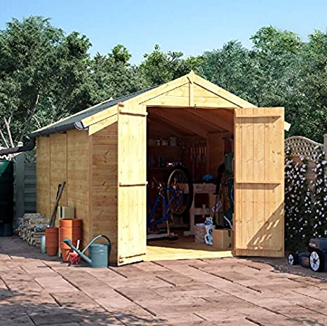 BillyOh - Cobertizo de madera para jardín, sin ventana, sistema de machihembrado, doble