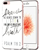 Iphone 7 Plus Case Bible Verses Psalms- Topgraph [Soft Tpu Slim Fit Protective] Apple Iphone 7 Plus Protective Cover Christian Songs