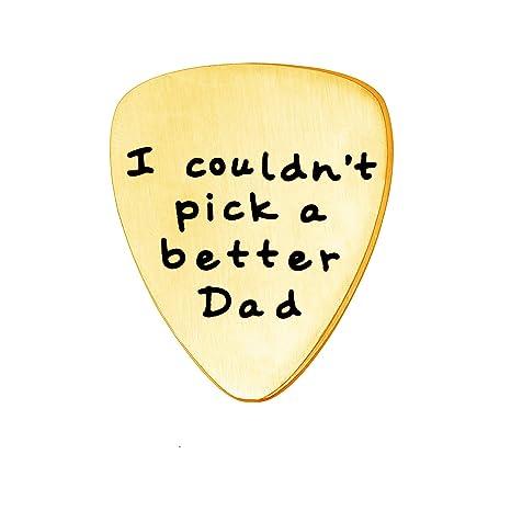 Collar con colgante de púa de guitarra dorada para el día del ...