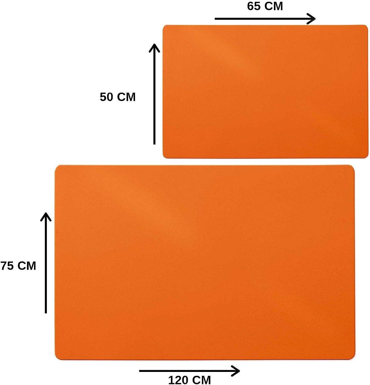 Sous Main casa pura/® Orange Tapis Prot/ège-sol Assorti Disponible Maison Protection Sans Mati/ère Chimique taille 50x65cm Bureau Id/éal Enfant