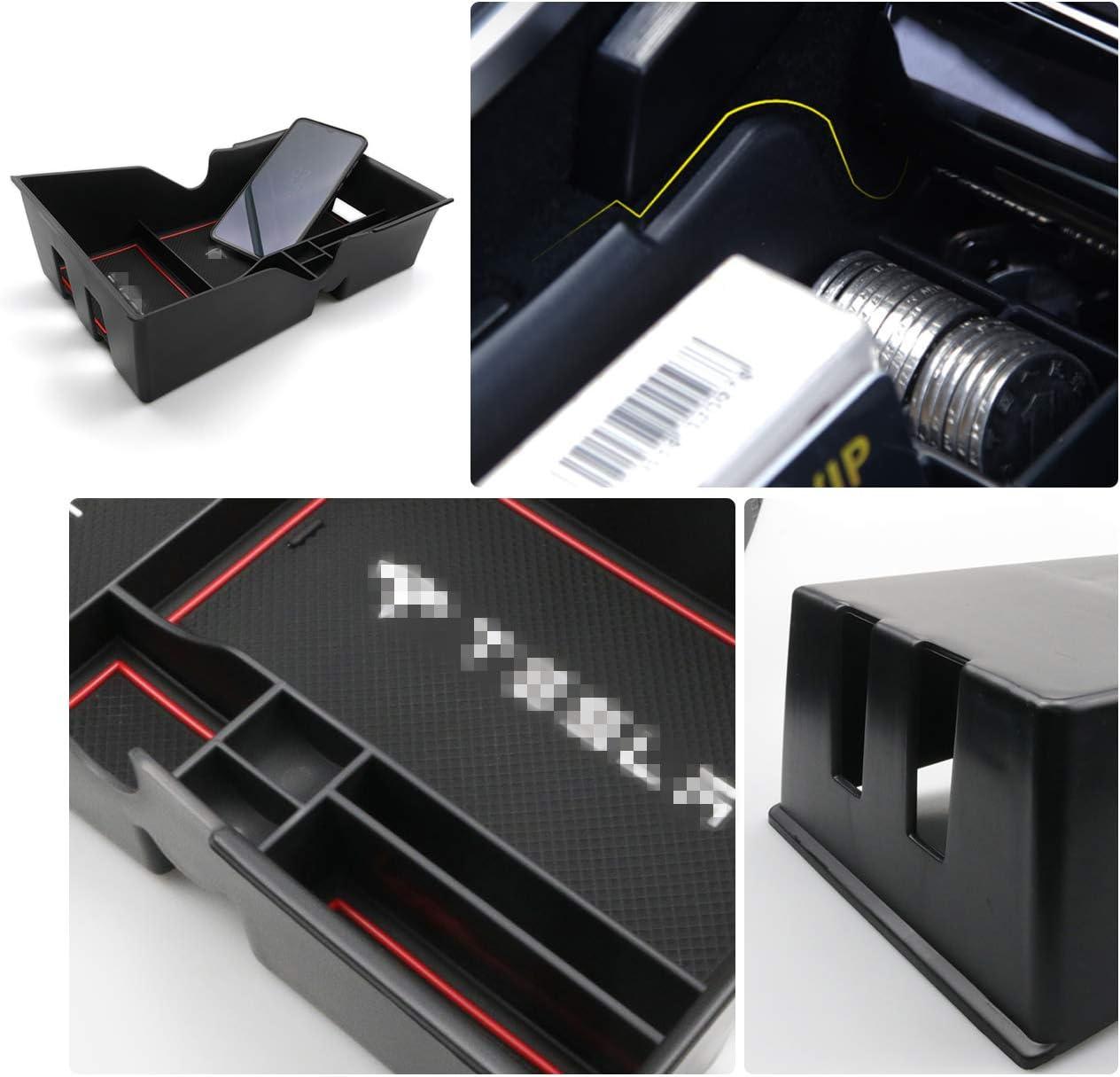 organizer per console centrale bracciolo adatto per 2018 2019 Tesla Model 3 RUIYA Scatola portaoggetti per console centrale console organizer regolabile