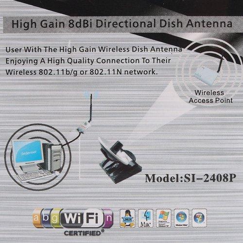 SINMAX 8dBi Indoor Parabolic Antenna 2 4GHz High Gain WiFi