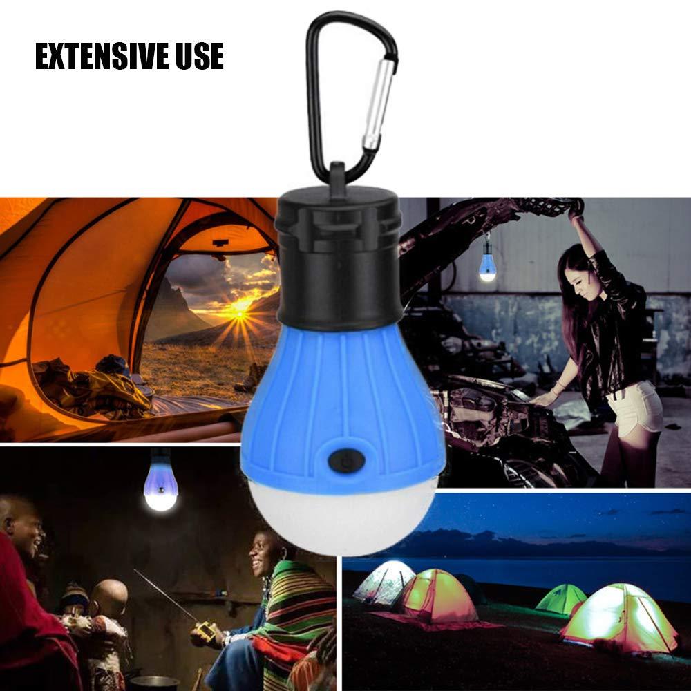 Portable Hanging Lamp 3 Pack JUMKEET Camping Light Tent Hooks Bulb Lantern Waterproof LED Emergency Night Light Battery Powered for Hiking,Hunting,Backpacking,Mountaineering,Car Repairing,Outdoor
