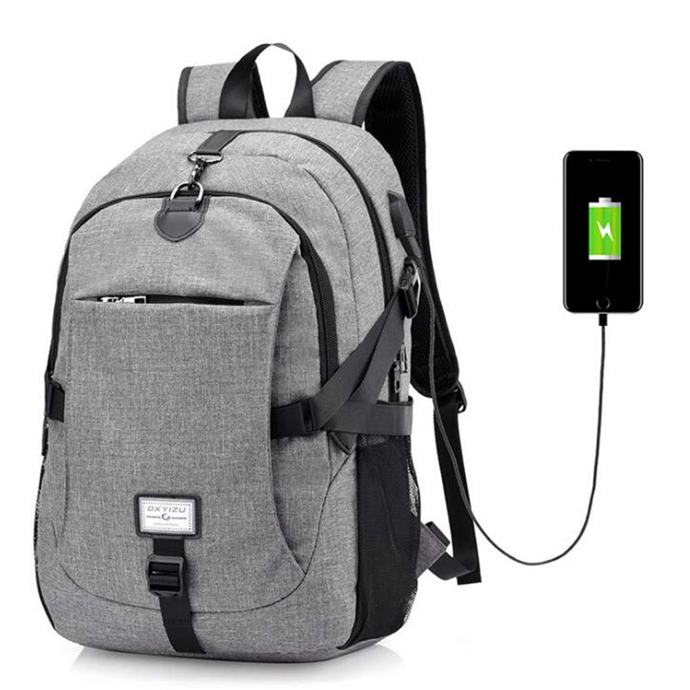 Leisure Daypacks Large Capacity Anti Theft Oxford Cloth School Bags School Durable Backpacks Student Basketball with USB Charging Port College School Computer Bag Black