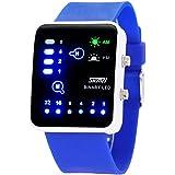 SKMEI - Reloj Led Impermeable Resisitencia al Agua Correa de PU Reloj de Pulsera Unisex para Chicos Chicas Hombre Mujer - Blanco Negro Azul Rosa Marrón