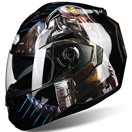 XWQXX Casco de la Motocicleta Casco desvelado Unisex ...